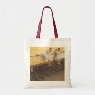 Dancers at the Bar by Edgar Degas, Vintage Ballet Budget Tote Bag