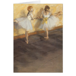 Dancers at the Bar by Edgar Degas, Vintage Ballet Greeting Card