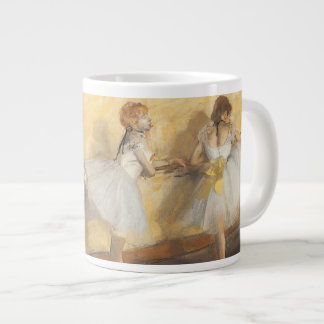 Dancers at the Bar by Edgar Degas, Vintage Ballet Jumbo Mug