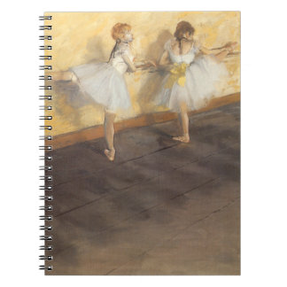 Dancers at the Bar by Edgar Degas, Vintage Ballet Notebook