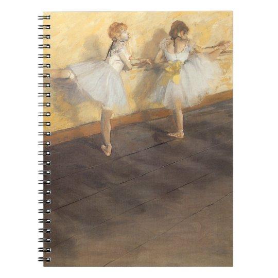 Dancers at the Bar by Edgar Degas, Vintage Ballet Notebook