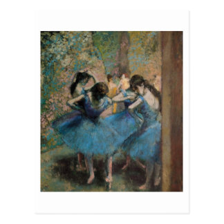 Dancers in blue, 1890 postcard