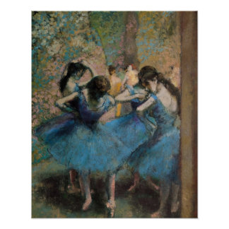 Dancers in blue, 1890 poster