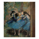 Dancers in blue, 1890 posters