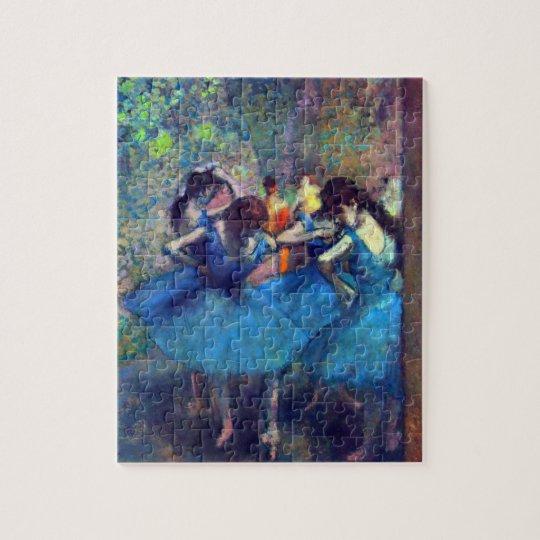 Dancers in Blue by Edgar Degas, Vintage Ballet