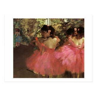 Dancers In Pink postcard