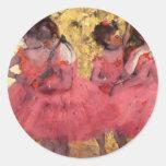 Dancers in Pink Round Sticker