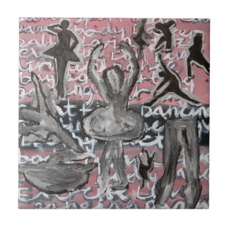 DANCER'S LIFE SMALL SQUARE TILE