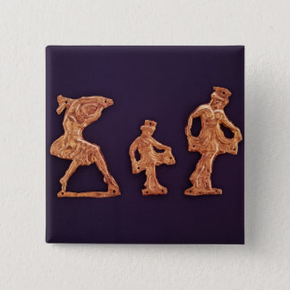 Dancers of goddess Demeter 15 Cm Square Badge