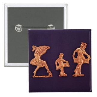 Dancers of goddess Demeter 15 Cm Square Badge
