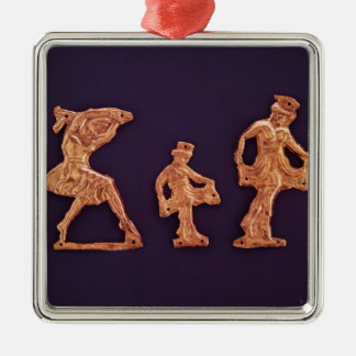 Dancers of goddess Demeter Silver-Colored Square Decoration