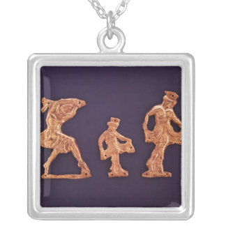 Dancers of goddess Demeter Silver Plated Necklace