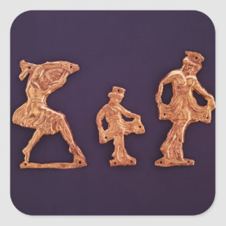 Dancers of goddess Demeter Square Sticker