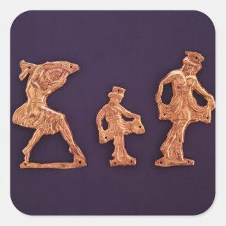 Dancers of goddess Demeter Square Stickers