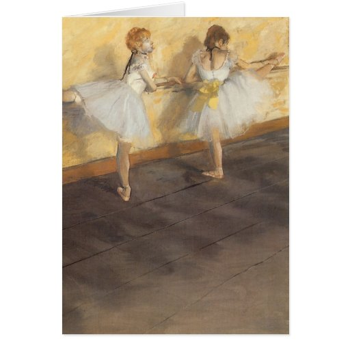 Dancers Practicing at the Barre by Edgar Degas Cards