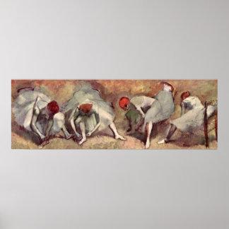 Dancers tying Shoes. Edgar Degas Posters