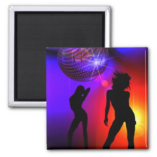 Dancers Under Disco Ball Magnet Dance Gift