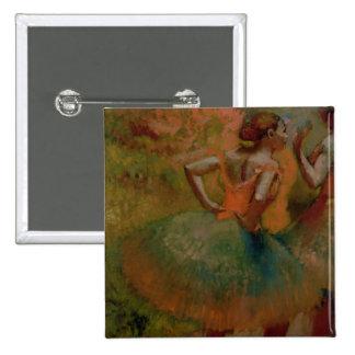 Dancers Wearing Green Skirts, c.1895 15 Cm Square Badge