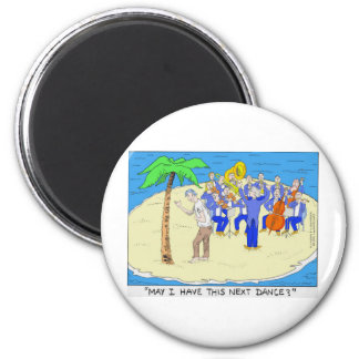 Dances w/ Palm Trees Funny Tees Mugs Gifts Etc 6 Cm Round Magnet