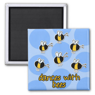 dances with bees square magnet
