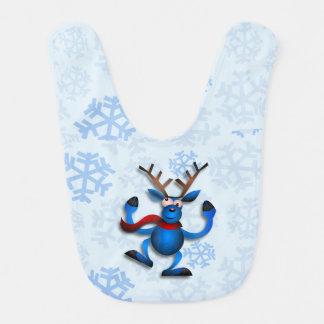 Dancin Prancin Reindeer Baby Bib