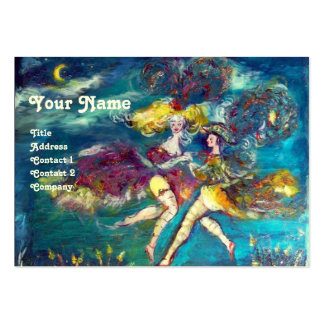 DANCING AND MUSIC IN THE NIGHT MONOGRAM PACK OF CHUBBY BUSINESS CARDS
