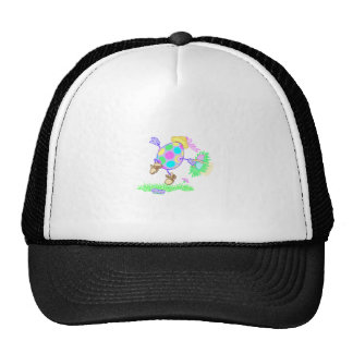 dancing and skipping easter egg trucker hats