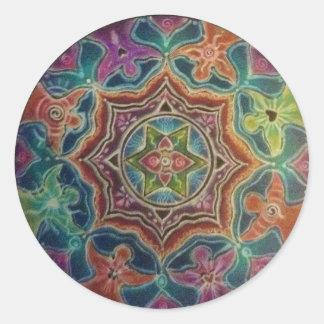 Dancing Angels Mandala Art Sticker