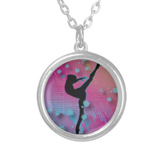 Dancing Artist Silver Plated Necklace