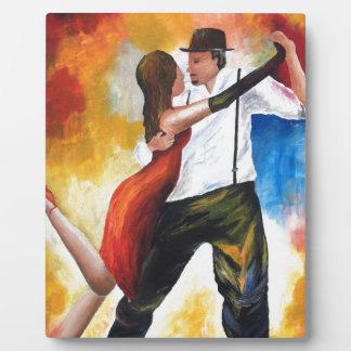 Dancing at Dawn Tango Lovers Colourful Dream! Plaque