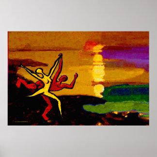 Dancing at Sunset (Fine Art Poster) Poster
