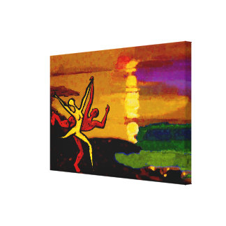 Dancing at Sunset (Gallery Wrapped Canvas)