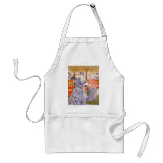 Dancing at the Rouge by Toulouse-Lautrec Standard Apron