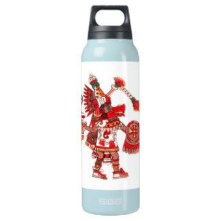 Dancing Aztec shaman warrior Insulated Water Bottle