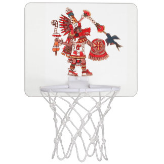 Dancing Aztec shaman warrior Mini Basketball Hoop
