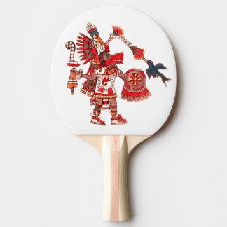 Dancing Aztec shaman warrior Ping Pong Paddle