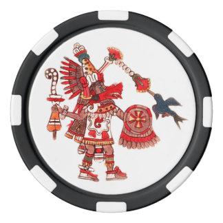 Dancing Aztec shaman warrior Poker Chips
