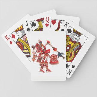 Dancing Aztec shaman warrior Poker Deck