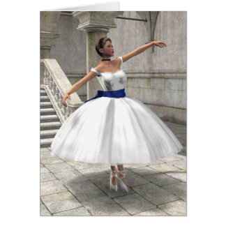 Dancing Ballerina Birthday Card
