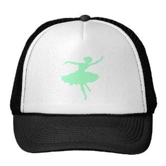 Dancing Ballerina in Pale Blue Trucker Hats