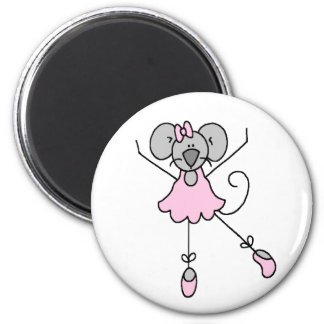 Dancing Ballerina Mouse Magnet