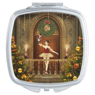 Dancing Ballerina Nutcracker Compact Mirror