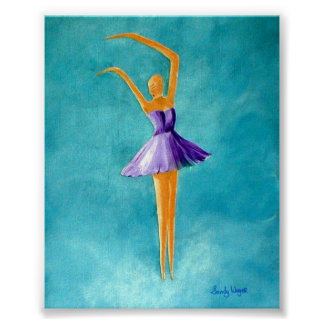 Dancing Ballerina, Purple Poster
