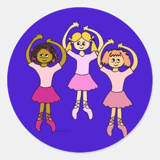 Dancing Ballerina Stickers