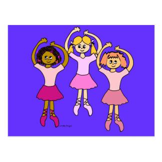 Dancing Ballerinas Gifts Postcard