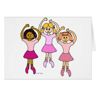 Dancing Ballerinas Greeting Cards