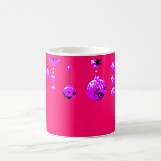 Dancing Balls Magenta Transp MUSEUM Zazzle Gifts Basic White Mug