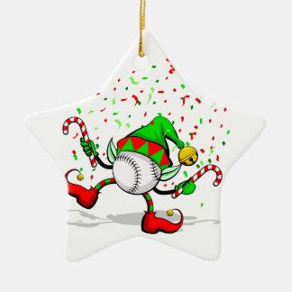 Dancing Baseball Christmas Elf Christmas Ornament