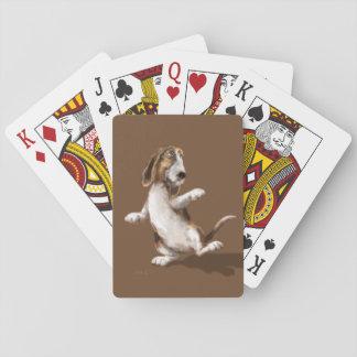 Dancing Bassett Playing Cards
