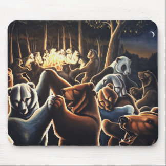 Dancing Bear Art Mousepad Wildlife Art Mousepad